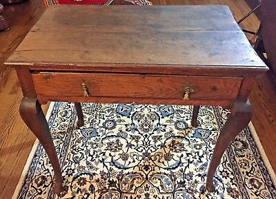 18th Century George I Oak Lowboy Table - c. 1725 - FREE Local Delivery