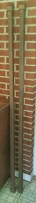 """Set of Two Vintage Iron Bed """"G"""" Rails  Unique shape and Hard to Find FREE SHIP"""