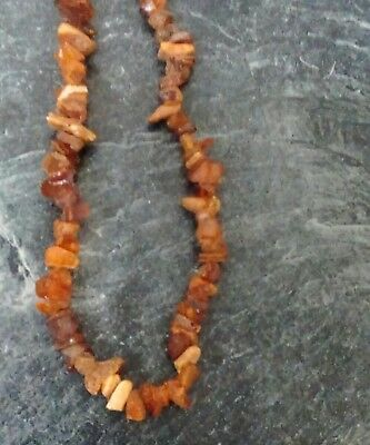 Baltic Amber Necklace Unpolished Natural