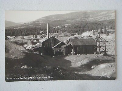 Unused Modern  Rppc Mining Postcard Ruins Of The Famous Tabor Matchless Mine