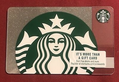 New  Starbucks Gift Cards Siren with sparkle/glitter background 2018