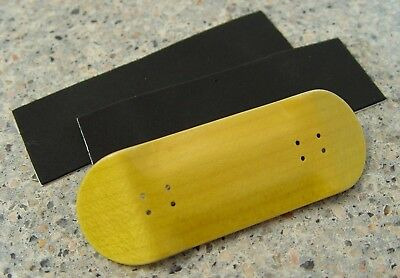 2 Grip Tape,2 Stickers Steep Hill FB New 32mm Wooden Black Fingerboard Deck