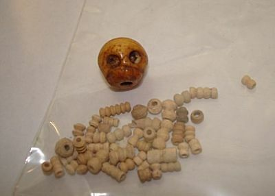 Museum quality 600ad Complete and wearable Byzantine bone SKULL AND BEADS