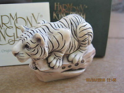 Harmony Kingdom Leaps and Bounds V1 White Bengal Tiger LE 250 RARE