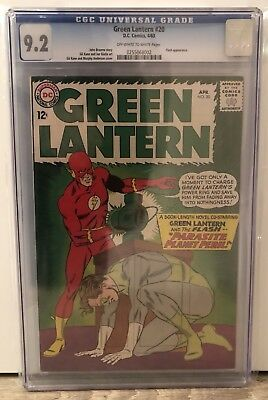 Green Lantern #20 - Cgc 9.2 - Flash Appearance - Off White To White Pages