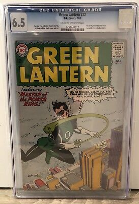 Green Lantern #22 - Cgc 6.5 - Hector Hammond Appearance - Crm/ow Pages
