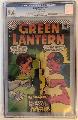 Green Lantern #52 - Cgc 9.4 - Golden Age Gl & Sinestro Appear - Ow/w Pages
