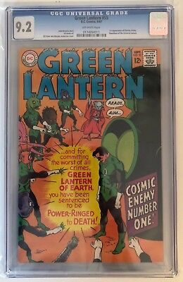 Green Lantern #55 - Cgc 9.2 - 1St Appearance Of Charley Vicker - Off White Pages