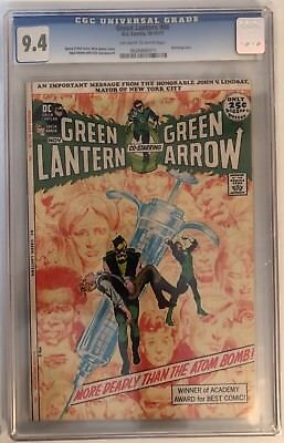 Green Lantern #86 - Cgc 9.4 - Famous Anti-Drugs Story - Off White/white Pages
