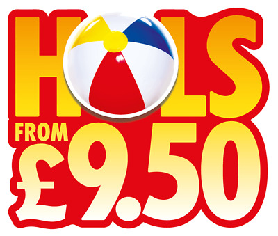 Sun Holidays from £9.50 - 10 Sun Tokens + Booking Form Postal Application