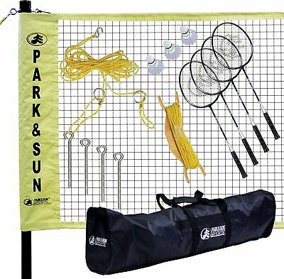 Park & Sun Sports Portable Outdoor Badminton Net System with Carrying Bag