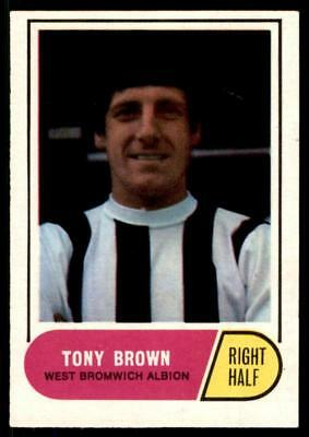 A&BC Football Green Back 1969 (B1) Tony Brown - West Bromwich Albion No. 123