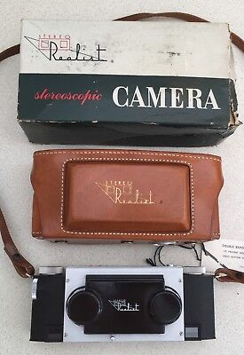 Nice Boxed f3.5 Stereo Realist 3D Camera, With Leather Case