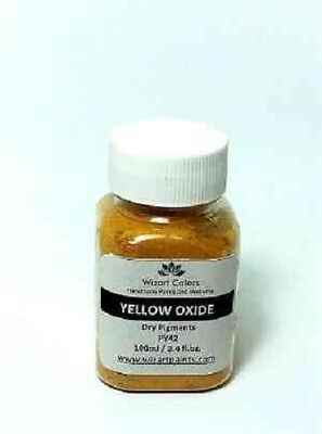 Yellow Oxide Pigment Powder for craft Art Mixed Media Jewelry Cement