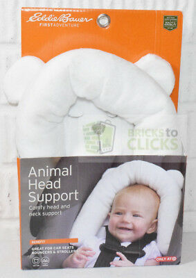 Eddie Bauer Infant Baby Animal Head Support Bear Use For Car Seats Strollers
