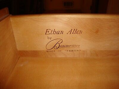 8 Piece: Ethan Allen Maple Furniture Lot - LOCAL PICK-UP ONLY