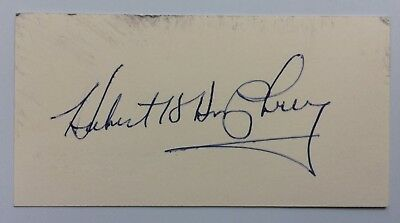 Former Vice President Hubert Humphrey Signed Autographed Business Card -FREE S&H