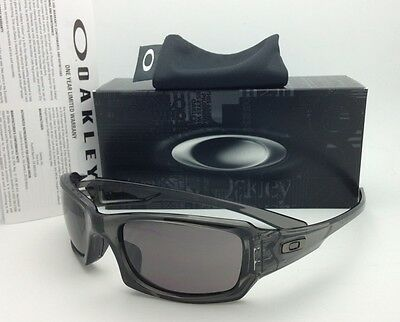 Authentic OAKLEY Sunglasses FIVES SQUARED OO9238-05 Grey Smoke Frame Grey Lenses
