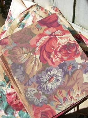 Set 5 large antique vintage French 1920s fabric covered books original woodcuts