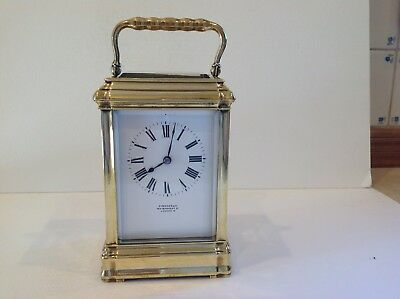 Stunning French Striking Carriage Clock In Gorge Case Fully Serviced May 2018