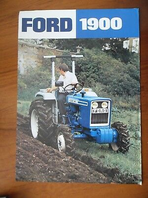 Ford 1900 Tractor Sales Leaflet