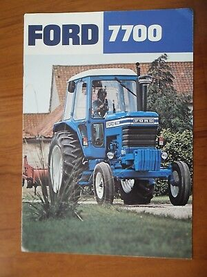 Ford 7700 Tractor Sales Leaflet