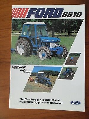 Ford 6610 Tractor Sales Leaflet With Single Sheet Supplement