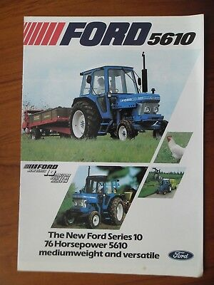 Ford 5610 Tractor Sales Leaflet With Single Sheet Supplement