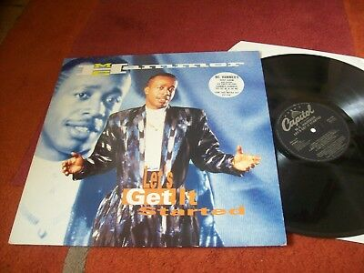 MC HAMMER - let`s get it started... vinyl LP 1991 EX condition