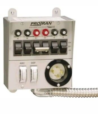 Used. RELIANCE 30216A 6 CIRCUIT POWER TRANSFER SWITCH KIT
