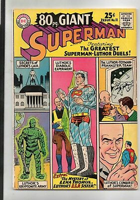 80 Page Giant # 11 / Dc 1965 / Good / Greatest Superman - Luthor Duels.