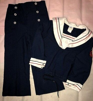 Vintage Child Sailor Suit Top and Pants Good as Gold Toddler Size 4T USA