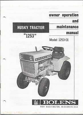 bolens husky tractor 1253 model 1253 02 owner operation maintenance rh picclick com