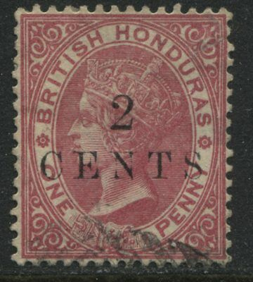 British Honduras QV 1888 2 cents on 1d rose used