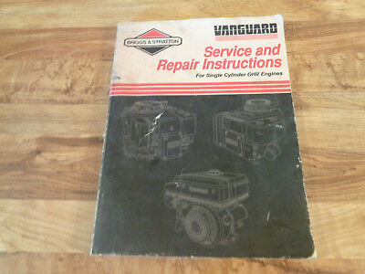 Briggs & Stratton Service & Repair Instructions Single Cylinder OHV Engine #6