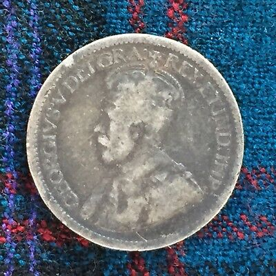 Canada 10 Cents 1919 George V - F, Silver