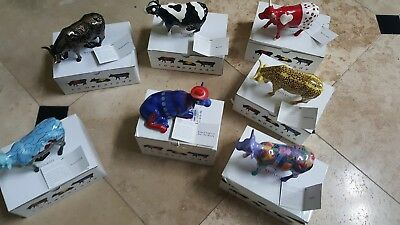 7 Cow Parade Westland  Figurines (selling each individually) Mint condition
