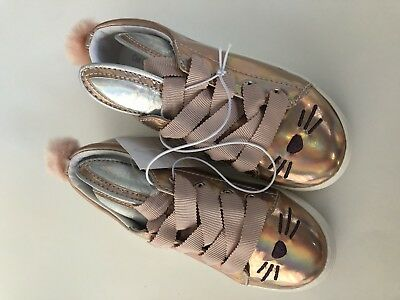b44e3d157340 Cat   Jack Cali Gold Silver Pink Bunny Rabbit Ears Easter Shoes Girls Size  10