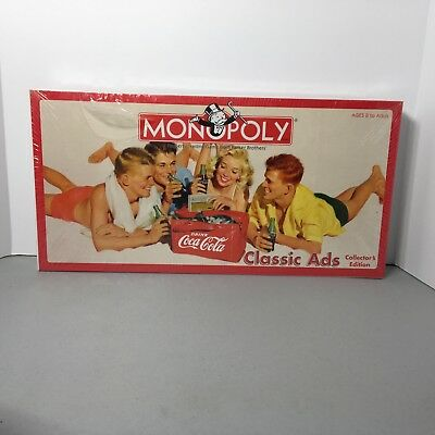 Coca Cola Monopoly Classic Ads Collector's Edition 70th Anniversary 2005 USA NEW