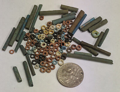 More than a Hundred 2500 Year old Ancient Egyptian Faience Mummy Beads (K704)