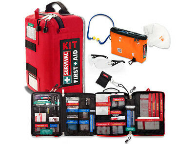 SURVIVAL Workplace Safety Bundle - Workplace First Aid KIT + Worksite PPE