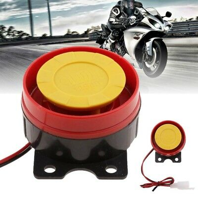 Universal 12V Truck Motorcycle ATV Raid Air Siren Small Electric Horn Alarm Red
