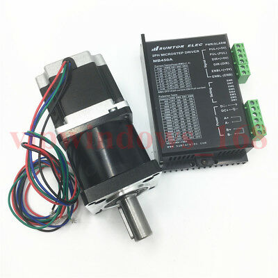 Nema23 Planetary Gearbox 10:1+11Nm Stepper Motor L56mm+4.2A Driver Router Kit