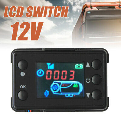 12V Parking Heater Controller Switch LCD Monitor Car Track Air Diesel Heater New