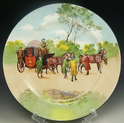 "Royal Doulton Coaching Days Bone Blue Sky 9"" Cabinet Plate (C)"