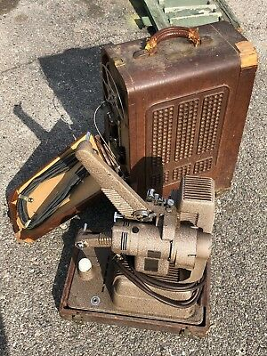 Antique Revere sound projector with built in speakers