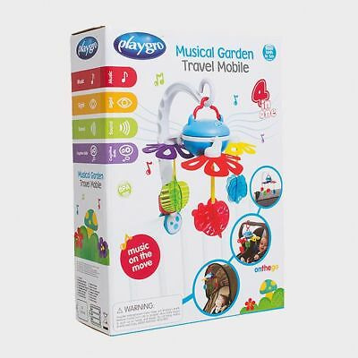 NEW Playgro Musical Garden Travel Mobile Soothing melody.