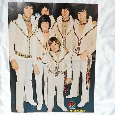 VTG Donny Osmond Brothers in Concert & Michael Jackson Five 2-Sided Poster Print