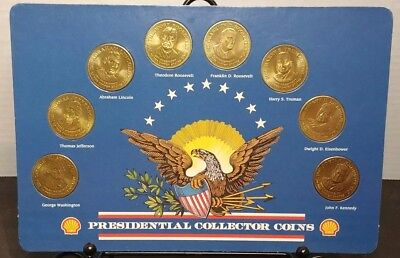 1992 SHELL Presidential Collector Coins - Complete Set of 8 Coins