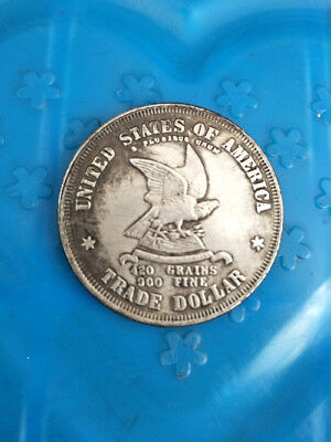 Old-United States of America 1873 trade dollar-silver-Coin-Diameter